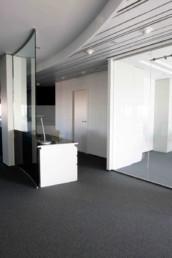 Imagen detalle de pasillo de oficinas. Foto cortesía de estudio de arquitectura e interiorismo Cristina Arechabala.